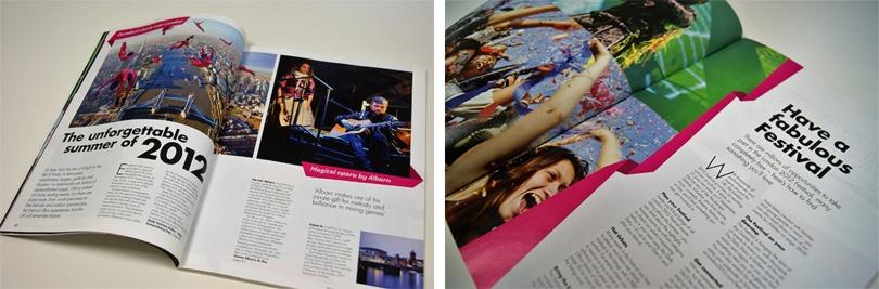 「ロンドン2012フェスティバル」公式ガイドブック:キャッチコピーも印象的