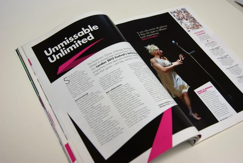 「ロンドン2012フェスティバル」公式ガイドブック:障害のあるアーティストが活躍したプログラム 「アンリミテッド(Unlimited)」も大きく紹介