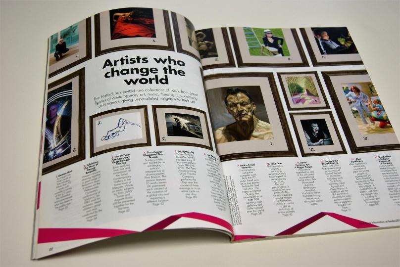 「ロンドン2012フェスティバル」公式ガイドブック:世界の名だたるアーティストが招へいされた。オノ・ヨーコさんも新作含む個展を開催